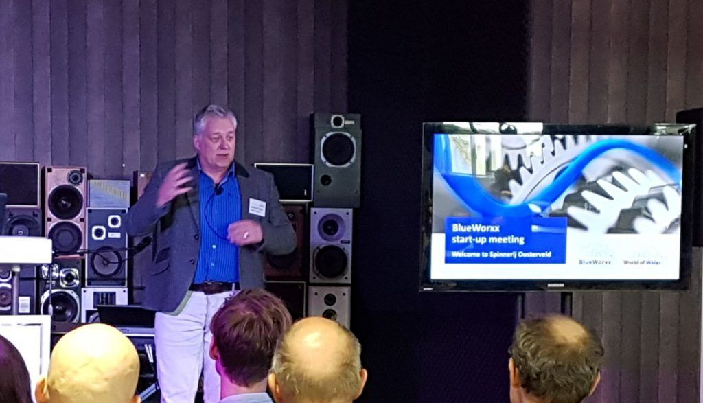 Gerben van Straaten, CEO Walas, at BlueWorxx launch